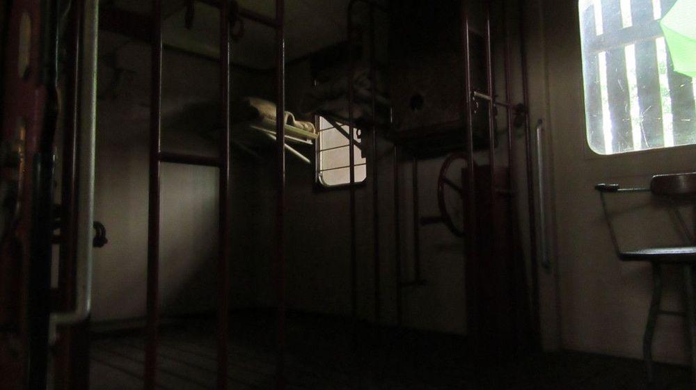 Museu Ferroviário - Interior de uma carruagem