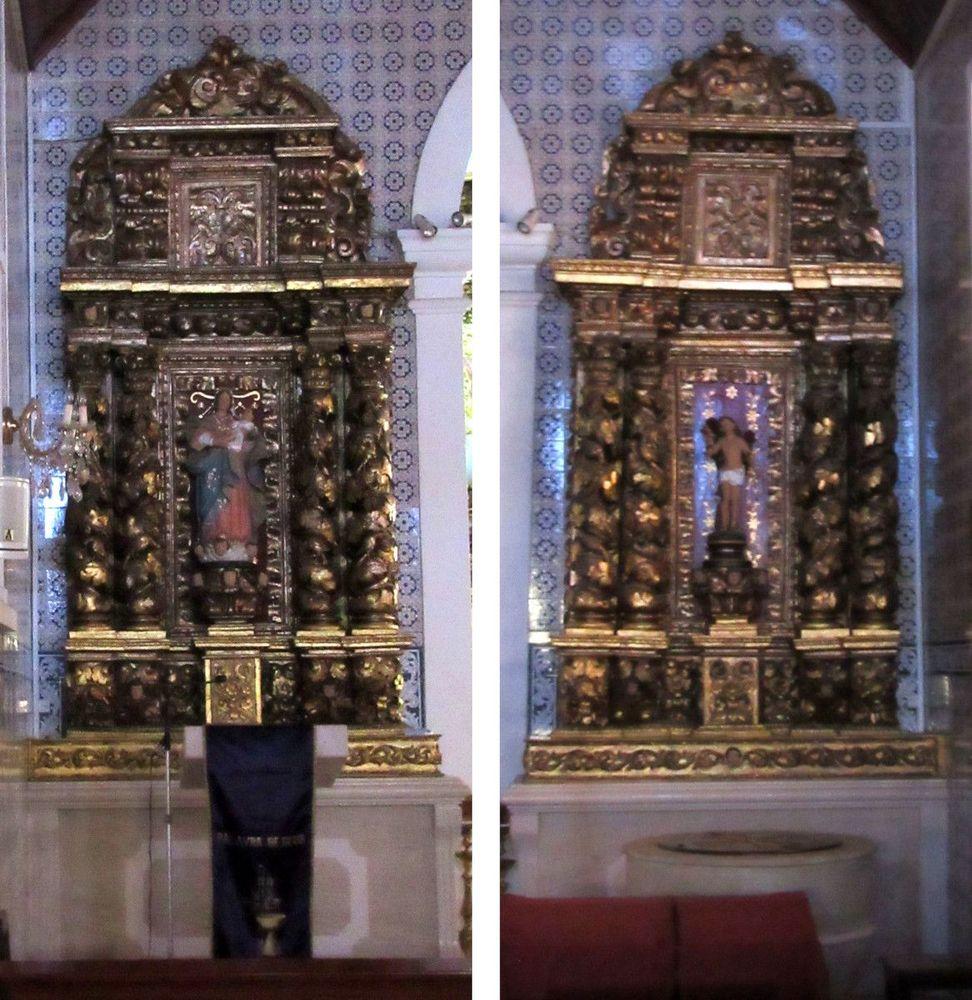 Igreja de Óis da Ribeira - Interior - Altares colaterais