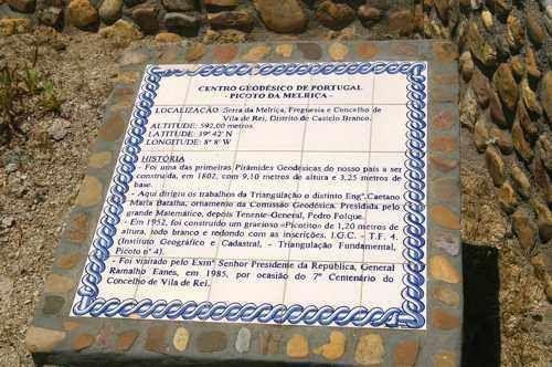 Centro Geodésico de Portugal - placa