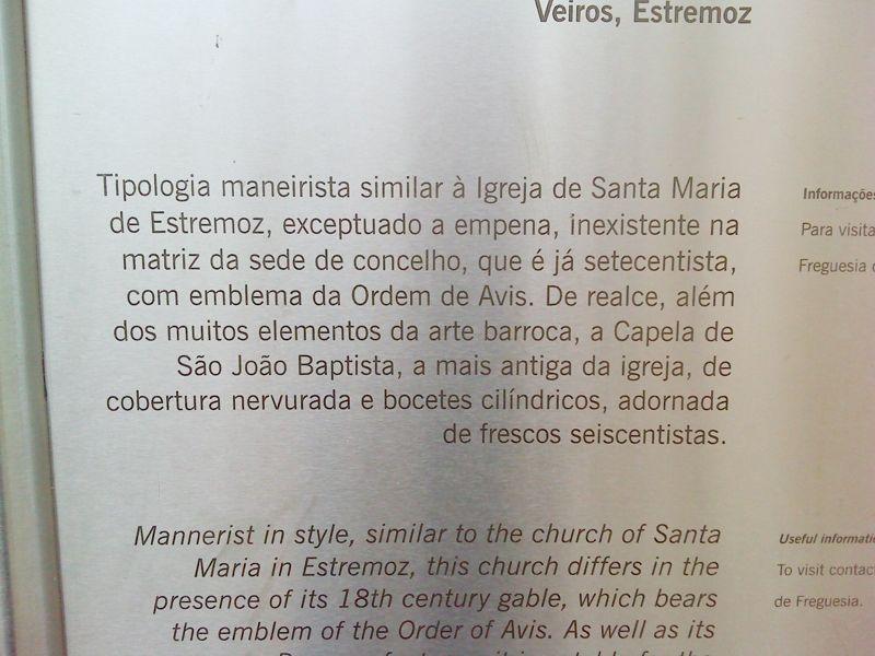 Igreja Matriz de São Salvador do Mundo - placa