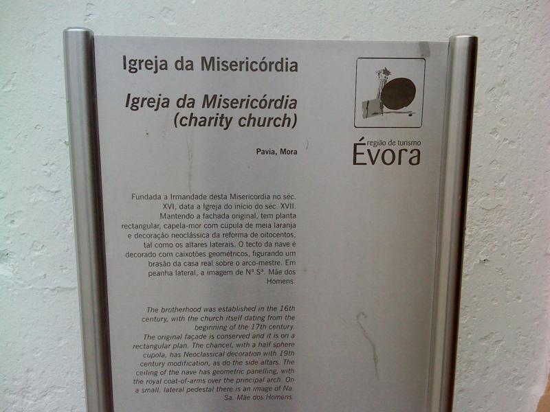 Igreja da Misericórdia - placa
