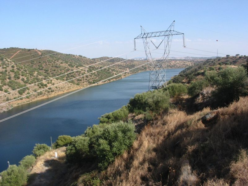 Rio Guadiana a jusante da barragem