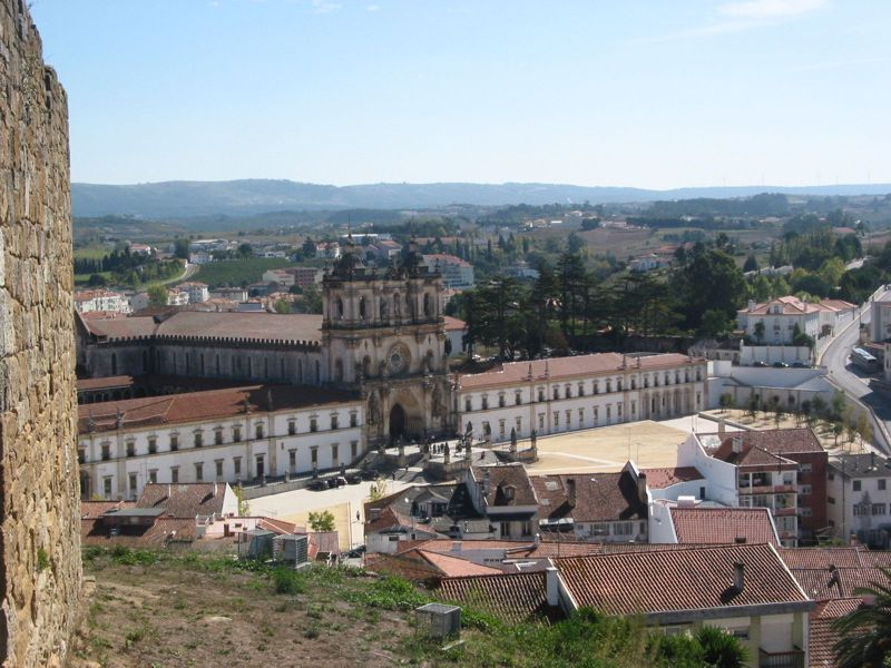 Vista do Castelo de Alcobaça