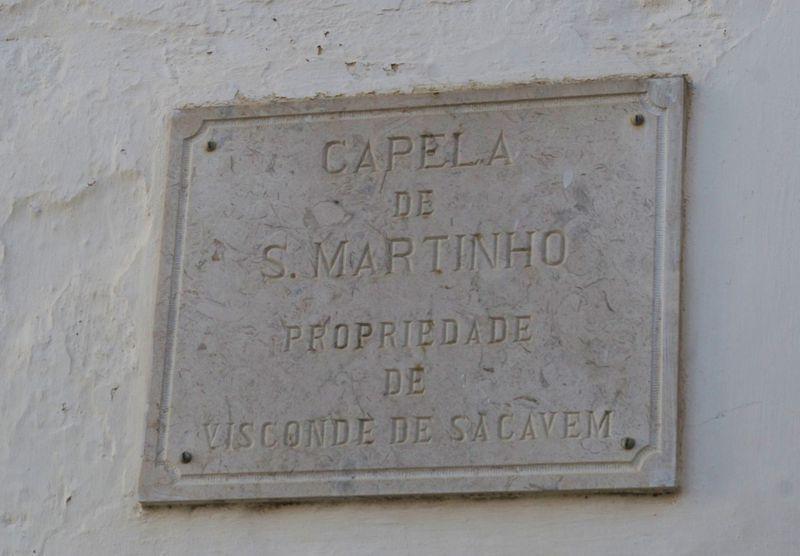 Capela de S.Martinho - placa
