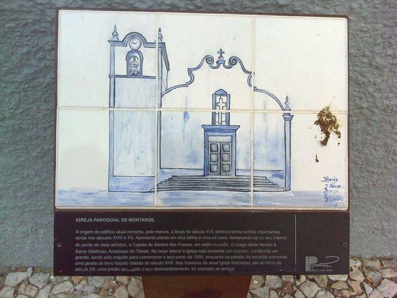 Igreja Matriz de Montargil - Painel Informativo