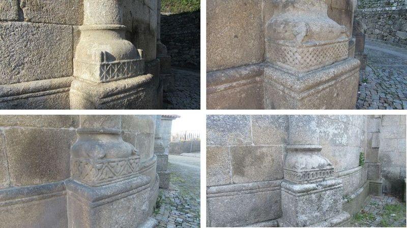 Mosteiro - bases das colunas laterais