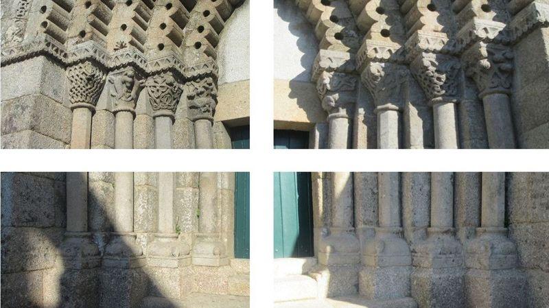 Mosteiro - pormenor das colunas frontais