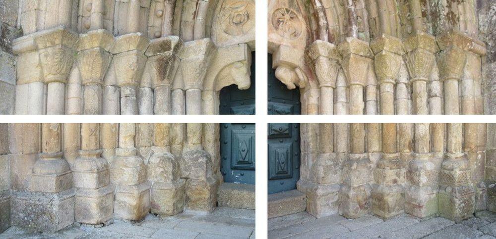 Igreja - colunas portal ocidental