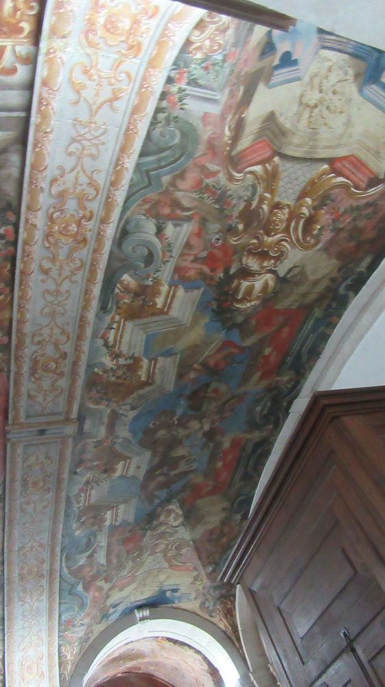 Igreja do Hospital de Jesus Cristo - pintura do teto
