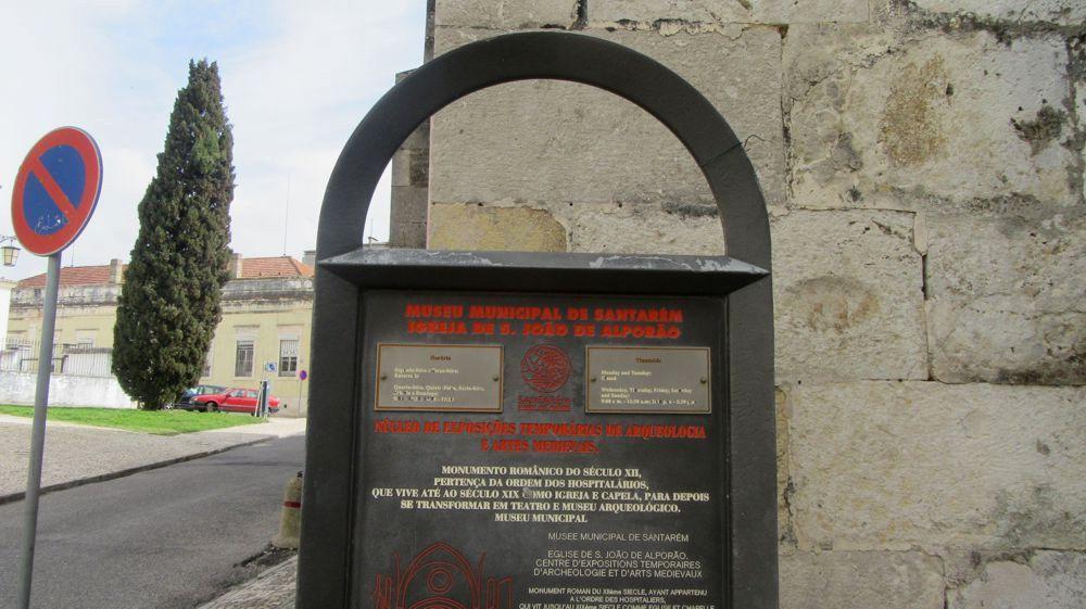 Igreja de São João de Alporão - placa