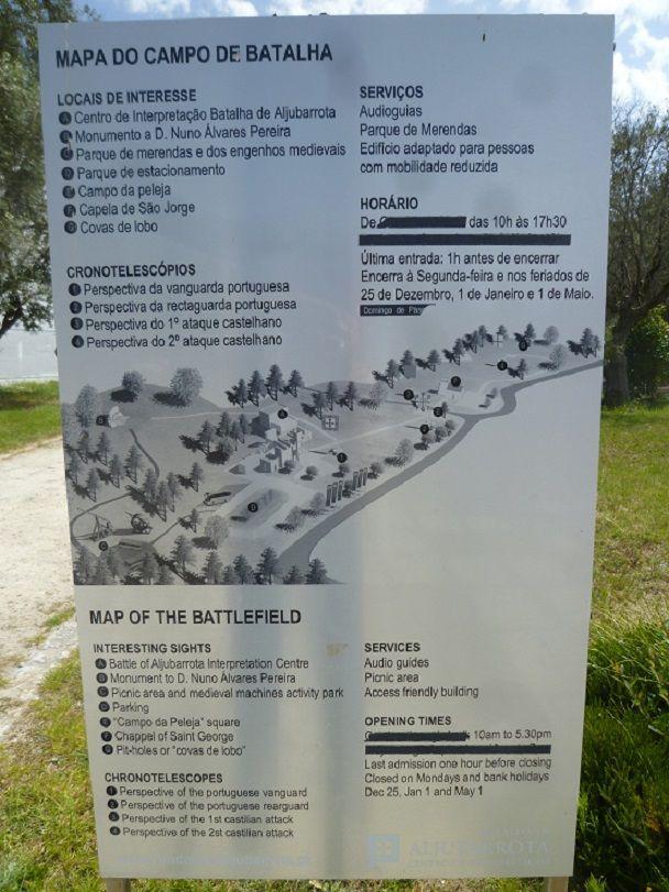 Mapa da Batalha de Aljubarrota