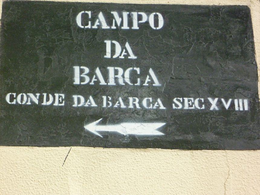 Rua com o nome Conde da Barca