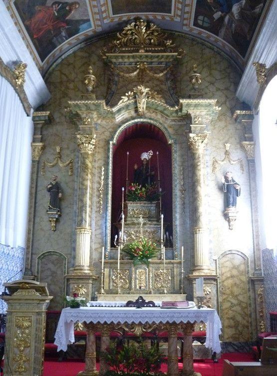 Capela de São Bento - foto de pormenor do altar-mor
