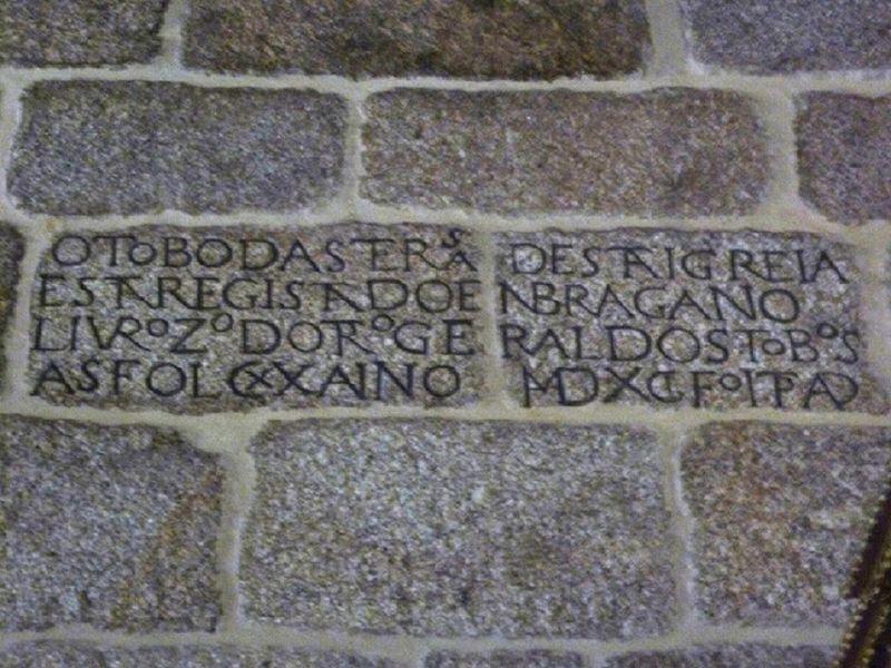 Igreja de São João da Ribeira - Inscrição